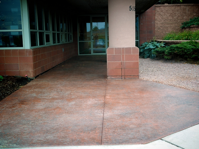 Colored and Stamped Concrete at Envision Eye Care
