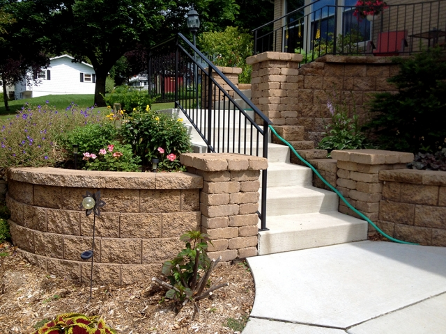 Concrete Steps and Retaining Wall