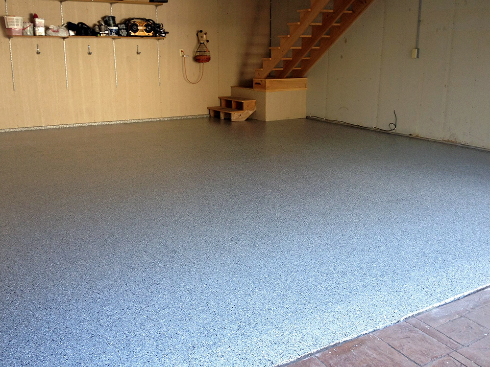 Garage Floor After Resurfacing With Polyeura