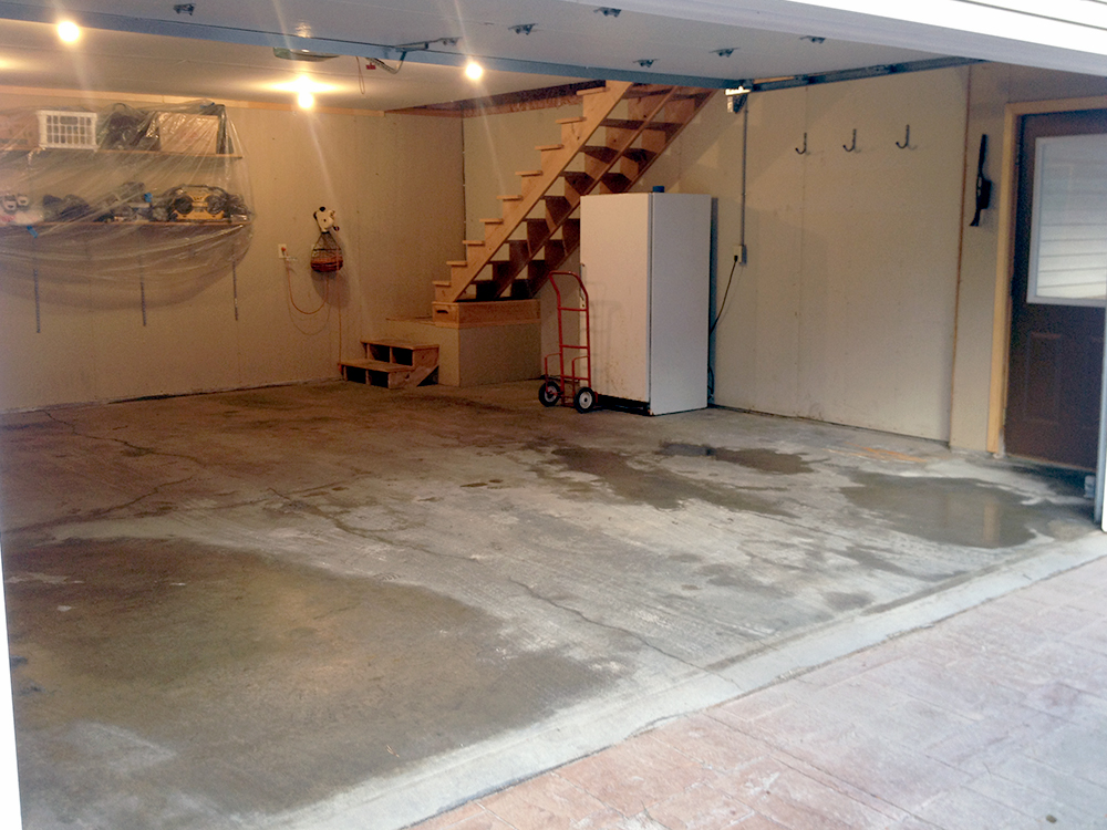 Garage Floor Before Resurfacing