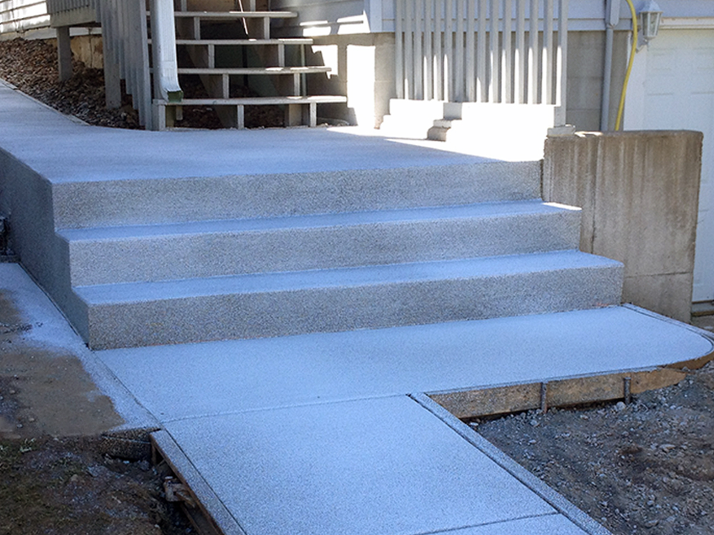 Large Poured Concrete Steps